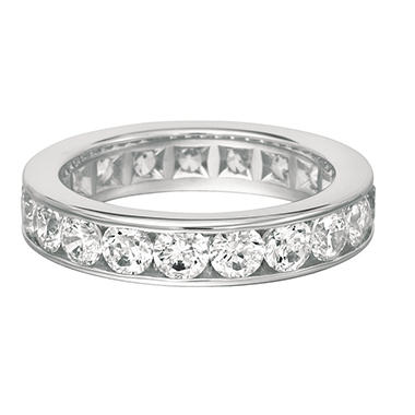 Channel-Set Diamond Eternity Band in 14K White Gold - 5mm (I, I1)