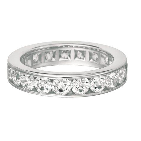 Channel-Set Diamond Eternity Band in 14K White Gold - 5mm (I, I1)
