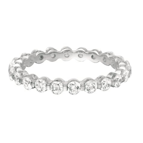 Prong-Set Diamond Eternity Band - 3mm (I, I1)