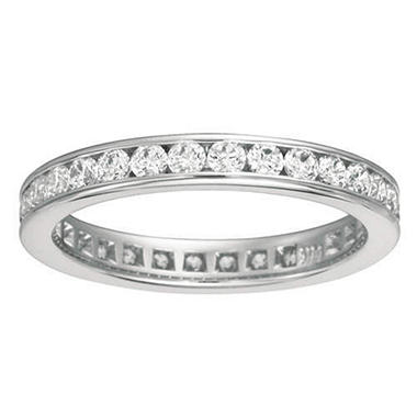 Channel-Set Diamond Eternity Band - 3.5mm (I, SI2)
