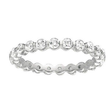 Prong-Set Diamond Eternity Band in 14K White Gold - 3mm (I, SI2)