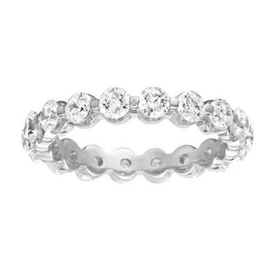 Prong-Set Diamond Eternity Band - 3.5mm (I, SI2)