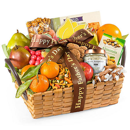 Father's Day Fresh Fruit And Snacks Gourmet Gift Basket