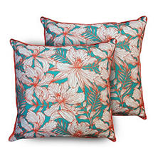 2 pk Toss Pillows in Assorted FabricsFLORA PILLOW 2PK-20IN