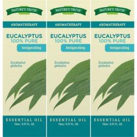 Nature's Truth 100% Pure Eucalyptus Essential Oil 15 mL (3 Pack)