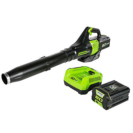 Greenworks Pro 80V 145 MPH - 580 CFM Cordless Jet Blower (2.5 AH Battery Included)