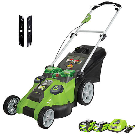 "Greenworks 20"" 40V Twin Force Cordless Lawn Mower"