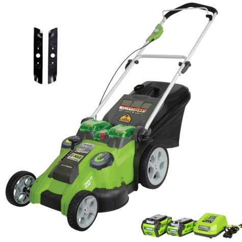 """Greenworks 20"""" 40V Twin Force Cordless Lawn Mower"""