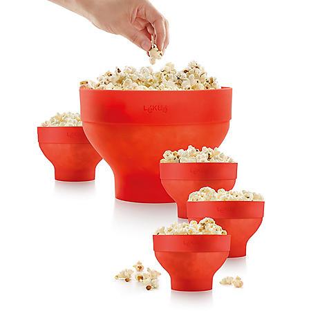 Lekue Extra-Large Popcorn Maker and 4 Bowls
