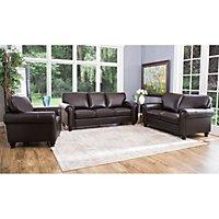 Maverick Top Grain Leather Sofa Loveseat And Armchair Set