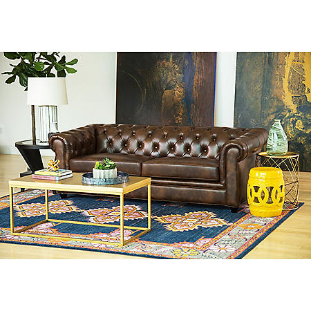 Natali Top-Grain Leather Sofa