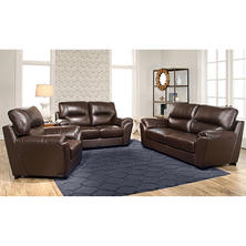 Bixley Top Grain Leather Sofa, Loveseat And Armchair Set Part 90