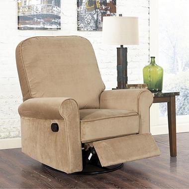 porter swivel glider recliner choose color