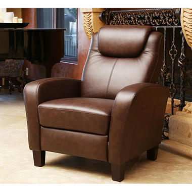 Aiden Top-Grain Leather Pushback Recliner & Aiden Top-Grain Leather Pushback Recliner - Samu0027s Club islam-shia.org
