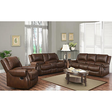 sams club living room furniture harvest reclining sofa loveseat and chair set sam s club 18669