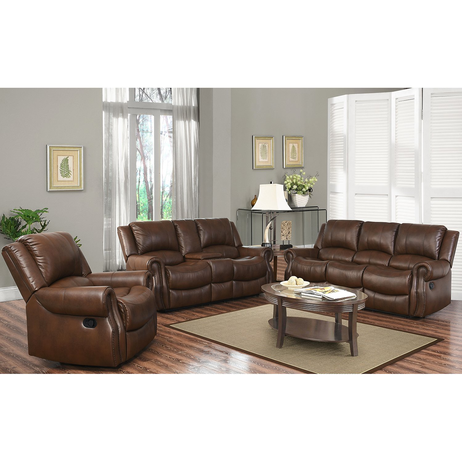$1999 00 Harvest Reclining Sofa Loveseat and Chair Set dealepic