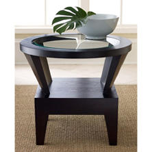 Parkins Round Glass End Table