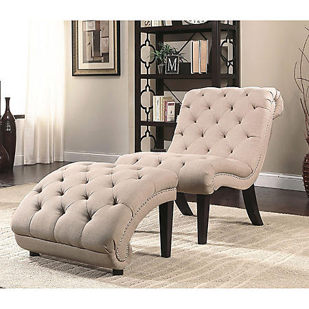 Ella Chaise Lounge Chair And Ottoman Set Sam S Club