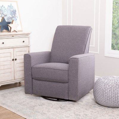 Abbyson Living Langley Swivel Glider Recliner (Grey / Taupe)