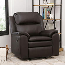 Landon Leather Rocker Recliner