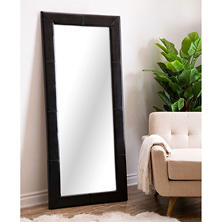 Emma Full-Length Floor Mirror, Leather Frame (Assorted Colors)