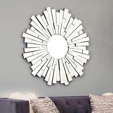 Circle Wall Mirrors montego round wall mirror - sam's club