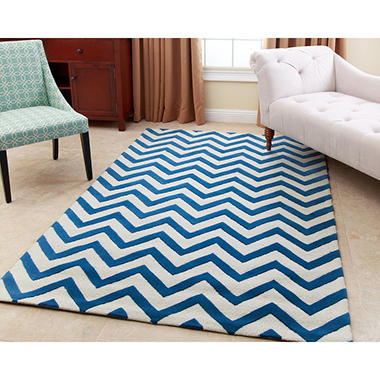 Kaya Navy Wool Rug (Assorted Sizes)