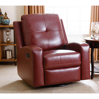 samu0027s exclusive stevens leather swivel glider recliner assorted colors