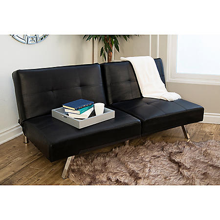 Stanford Convertible Split-Back Sofa Futon (Assorted Colors)