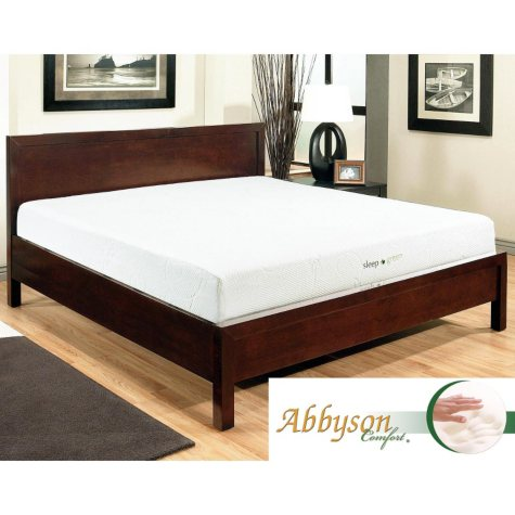 "Abbyson Living Comfort Sleep-Green 10"" Memory Foam Mattress, Queen"