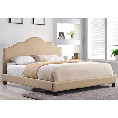 Attirant Madison Upholstered Platform Bed, Queen