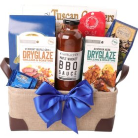 BBQ Twill with Leather Handles Gift Tote