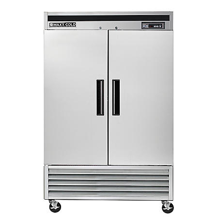 Maxx Cold Double Door Commercial Reach-In Refrigerator with Stainless Interior and Exterior (49 cu. ft.)