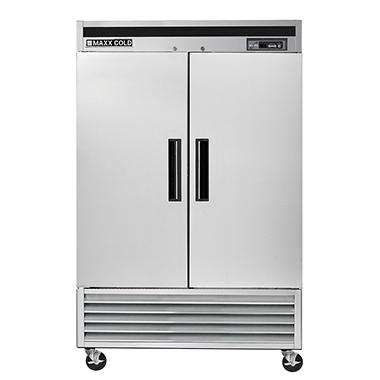 Maxx Cold Commercial Reach-In Freezer with Stainless Interior and Exterior (49 cu. ft.)