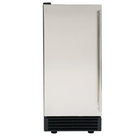 Maxx Ice Freestanding Icemaker in Stainless Steel and Black (50 lbs.)
