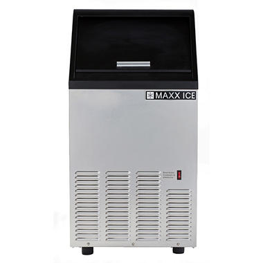 Maxx Ice Freestanding Icemaker in Stainless Steel (75 lbs.)
