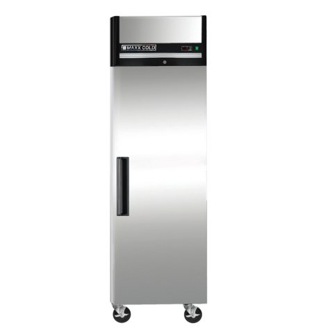 Maxx Cold X-Series Single Door, Commercial Reach-In Upright Refrigerator in Stainless Steel (23 cu. ft.)