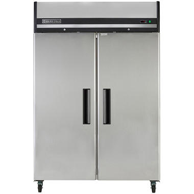 maxx cold xseries doubledoor commercial reachin upright freezer in stainless - Upright Freezers