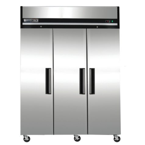Maxx Cold X-Series Triple Door Commercial Reach-In Upright Refrigerator in Stainless Steel (72 cu. ft.)