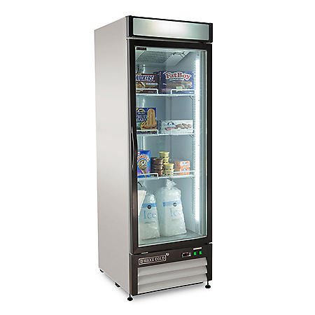 Maxx Cold X-Series Single Door Upright Merchandiser Freezer, White (23 cu. ft.)