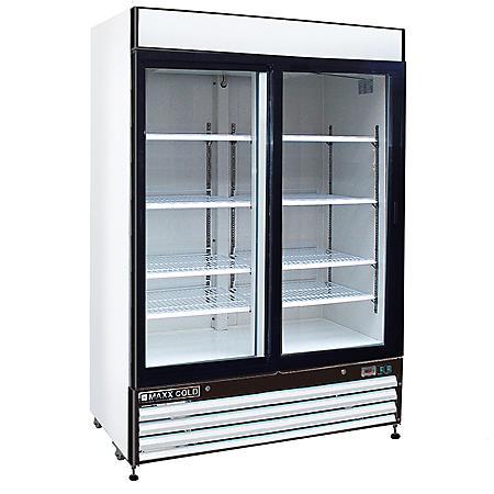 Maxx Cold X-Series Double Door Merchandiser Refrigerator in White (48 cu. ft.)