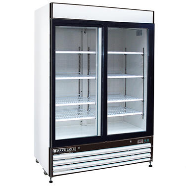 Ma Cold X Series Double Door Merchandiser Refrigerator In White 48 Cu Ft