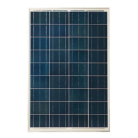 Grape Solar 100-Watt Polycrystalline Solar Panel for RVs, Boats and 12-Volt Systems