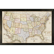 "Home Magnetics 35"" x 23"" Magnetic Office Map, Select Style"