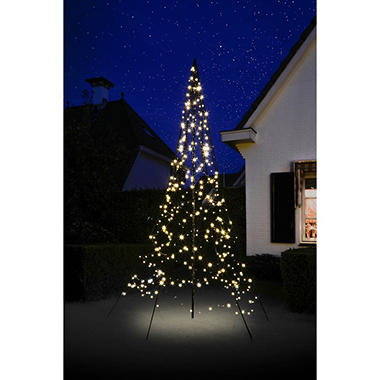 10 fairybell outdoor christmas tree with 360 led lights