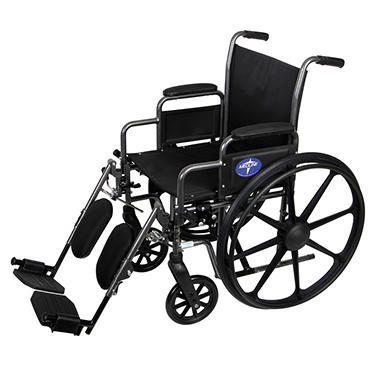 Medline K3 Basic Wheelchair with Desk Length, Removable Armrests and Elevating Leg Rests (16