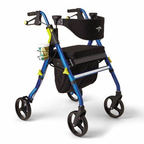 "Medline Empower Rollator Walker with 8"" Wheels (Choose a Color)"