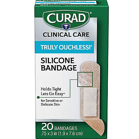 """Curad Truly Ouchless Adhesive Bandages 3/4"""" x 3"""" (480 ct.)"""