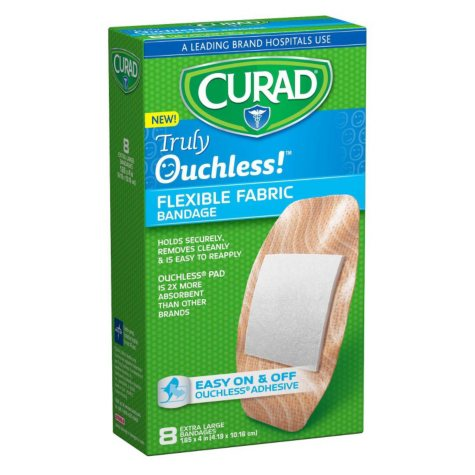 """Curad Truly Ouchless Adhesive Bandages 1.65"""" x 4""""  (240 ct.)"""