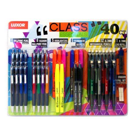 Luxor 40-Piece Class Essentials Pack